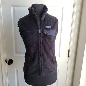 Patagonia Size S Black Fleece Vest Classic Style
